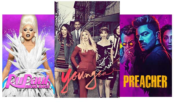 Stream TV Shows like Younger, Power, and RuPaul's Drag Race