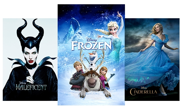 Maleficent, Frozen, Cinderella