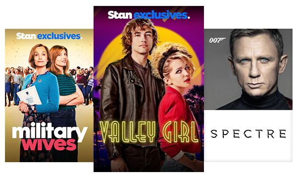 Blockbuster and classic movies like Military Wives, Valley Girl and the James Bond Collection.