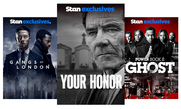 Stream TV Shows like Gangs of London, Your Honor and Power Book II: Ghost.