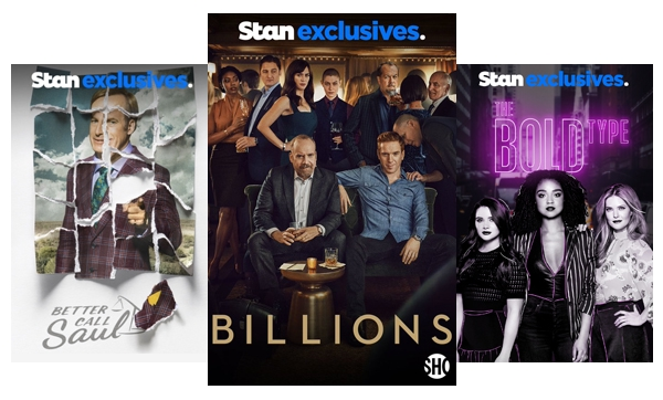 Stream TV Shows like Power, Younger & Billions.