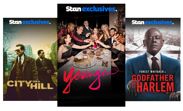 Stream TV Shows like City On A Hill, Younger and Godfather Of Harlem.