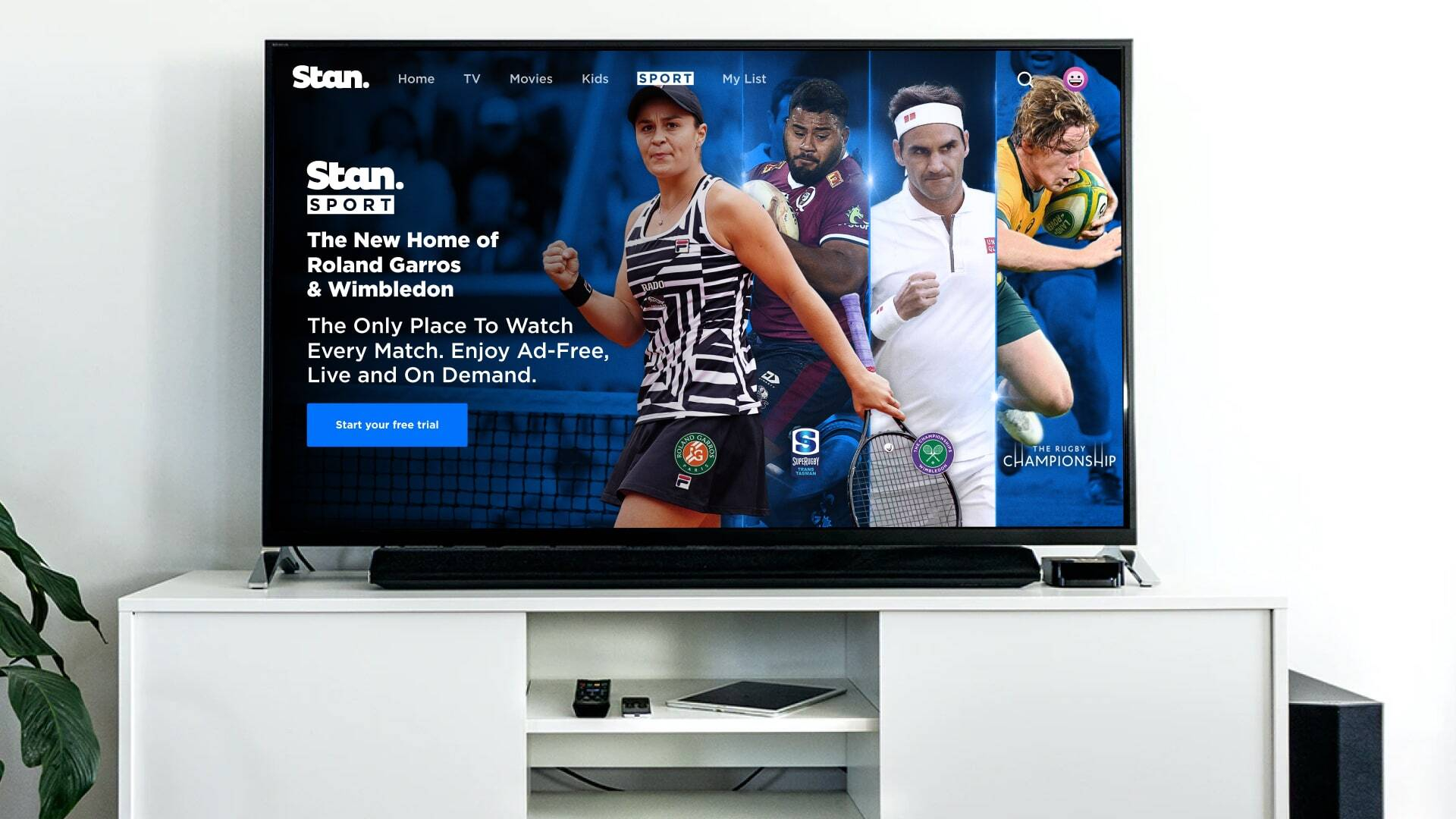 Stan Sport is the Home of Rugby, Roland Garros & Wimbledon