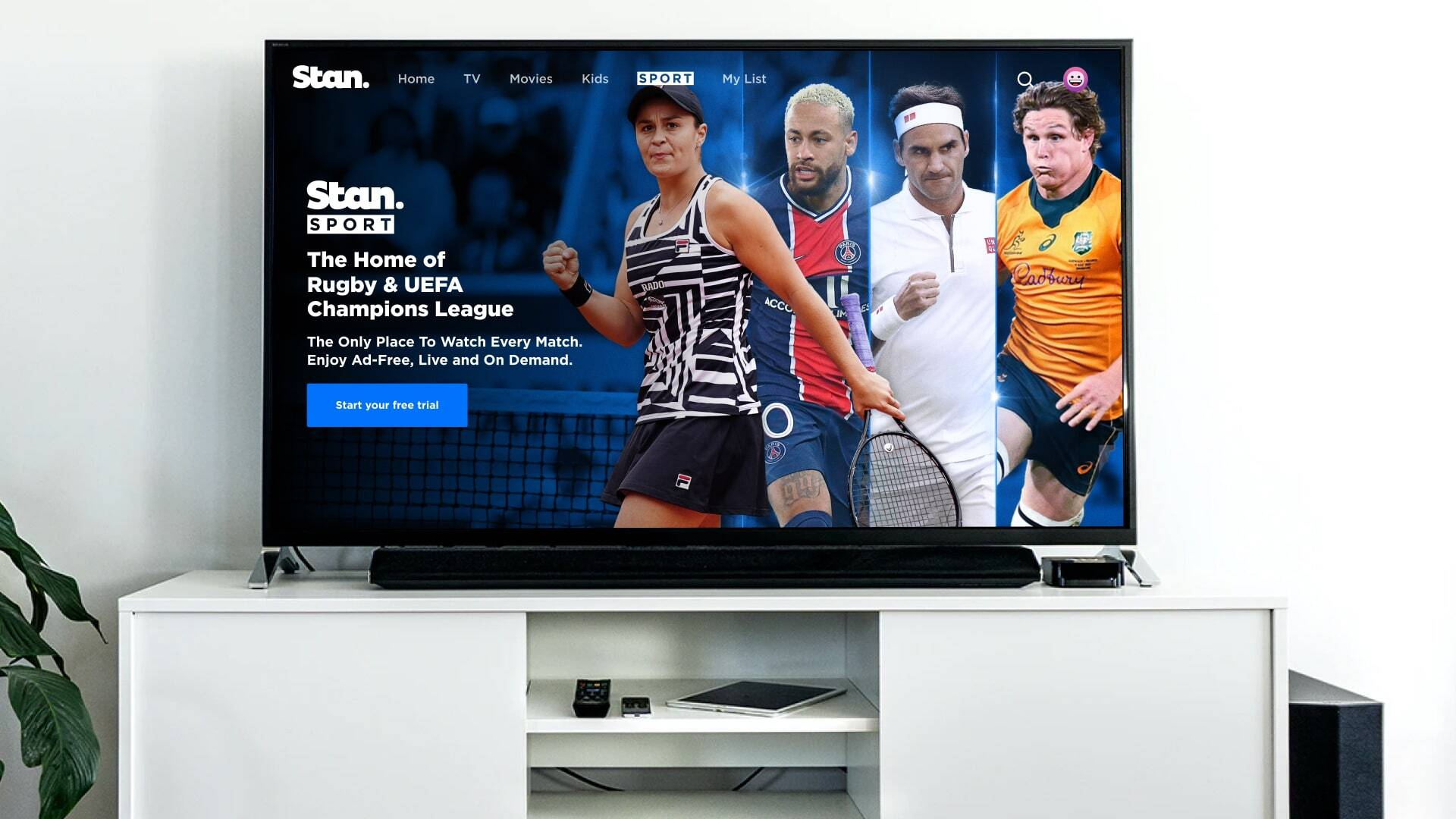 Stan Sport is the Home of Rugby & UEFA Champions League.